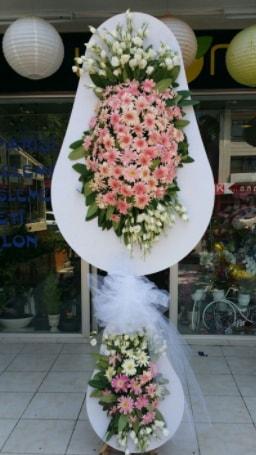 Çift katlı özel şahane sepet çiçeği  Çanakkale online çiçek gönderme sipariş