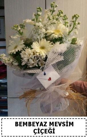 Bembeyaz görsel mevsim çiçek buketi  Çanakkale internetten çiçek siparişi