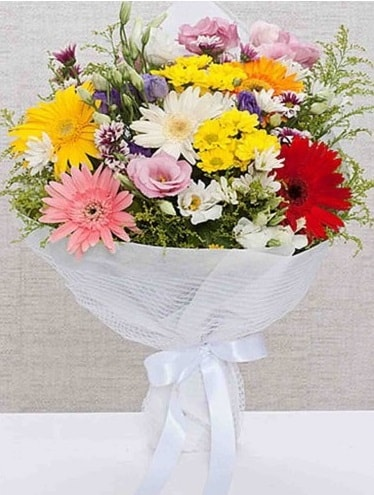 Karışık Mevsim Buketleri  Çanakkale uluslararası çiçek gönderme