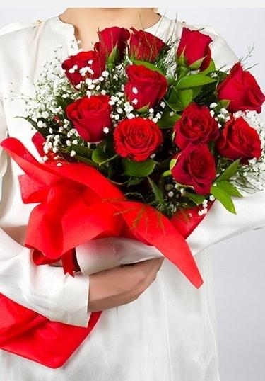 Aşk Gülleri 11 Adet kırmızı gül buketi  Çanakkale online çiçek gönderme sipariş