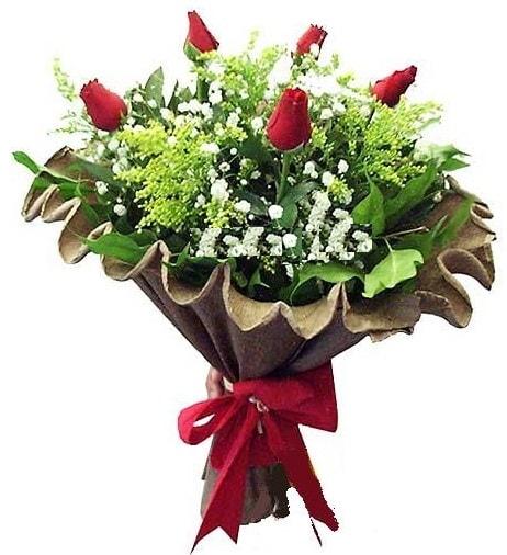5 adet gülden buket  Çanakkale çiçekçiler