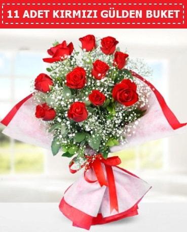 11 Adet Kırmızı Gül Buketi  Çanakkale çiçek mağazası , çiçekçi adresleri
