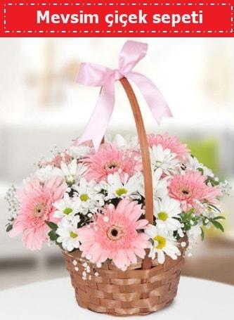 Mevsim kır çiçek sepeti  Çanakkale cicekciler , cicek siparisi