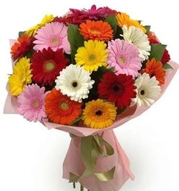 Karışık büyük boy gerbera çiçek buketi  Çanakkale cicek , cicekci