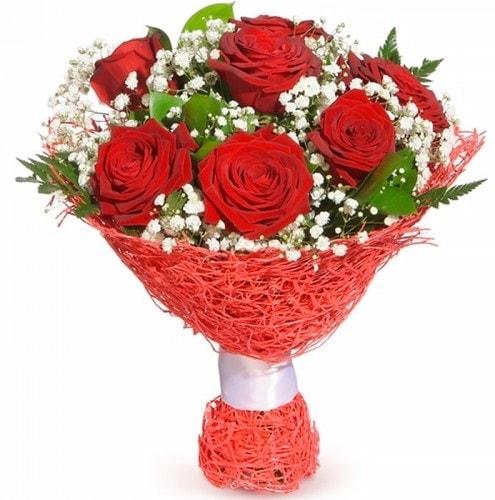 7 adet kırmızı gül buketi  Çanakkale çiçek servisi , çiçekçi adresleri